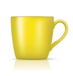 yellow big cup vector image