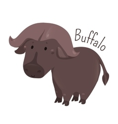 African buffalo Child fun pattern icon vector image vector image