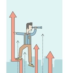 Business development vector image