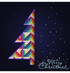 Christmas card with tree Xmas card vector image vector image