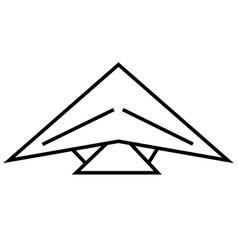 paragliding icon vector image