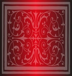 Red Floral Luxury Ornamental Pattern Background vector image