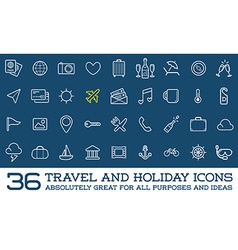 Travel Icons Set Great for All Purposes like Print vector image
