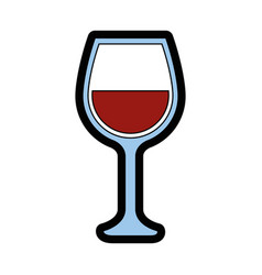wine cup isolated vector image