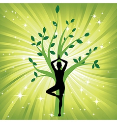 woman meditating yoga vector image
