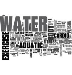 aquatic exercise equipment text word cloud concept vector image