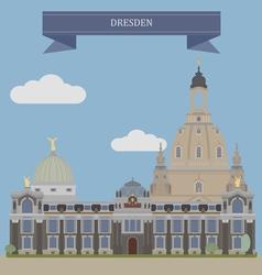 Dresden vector image