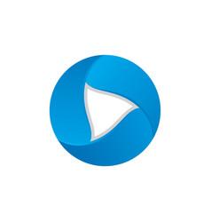 Play button 3d business logo image vector