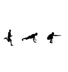 sticker for car athletes silhouette of runner vector image
