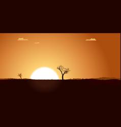 summer desert plain landscape vector image