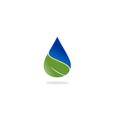 water drop leaf nature logo vector image