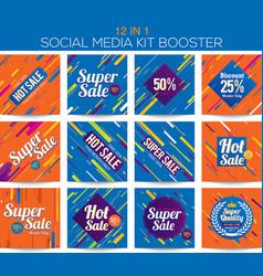multipurpose social media kit booster vector image vector image