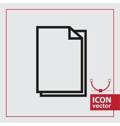 Paper Simple Icon vector image vector image