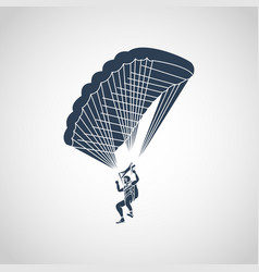 parachuting logo icon vector image
