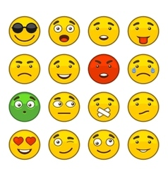 Set of Emoji Smile Icons Set vector image