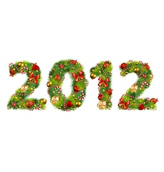 2012 christmas vector image