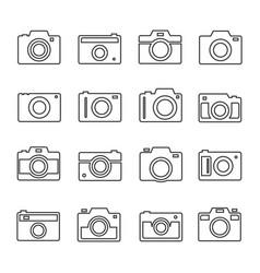 camera outline set vector image vector image