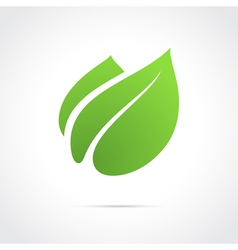 Eco icon green leaf vector