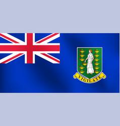 flag of british virgin island - vector image