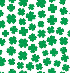 Four leaf clover seamless pattern vector image vector image