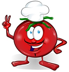 fun tomato chef cartoon vector image vector image