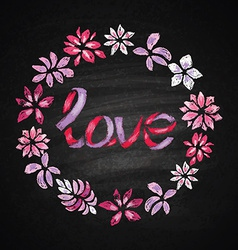 Hand drawn chalk lettering vector image