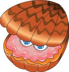 Oyster cartoon vector image vector image