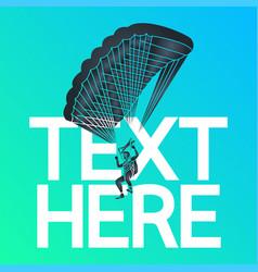 parachuting logo icon vector image