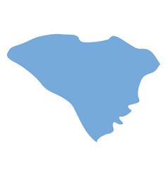 south carolina state map vector image