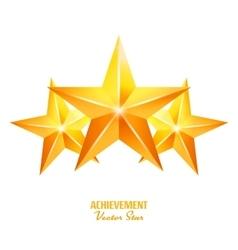 Three Achievement Stars Yellow Sign vector image