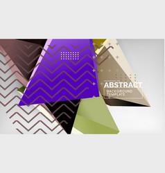 3d triangle geometric background design modern vector