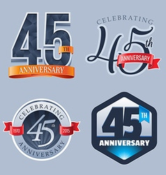 45 Years Anniversary Logo vector