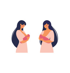 a young mother is breastfeeding her bawoman vector image