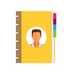 Address phone book icon flat vector