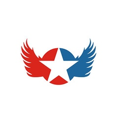 America star usa logo icon wings vector