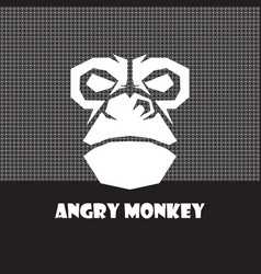 Angry monkey logo vector