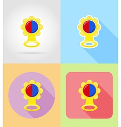 Baby flat icons 01 vector