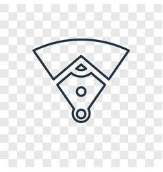 baseball field concept linear icon isolated on vector image