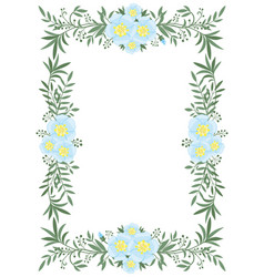 beautiful vertical frame flowers and plants vector image