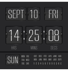 Black scoreboard vector