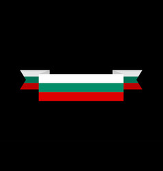 Bulgaria flag ribbon isolated bulgarian tape vector