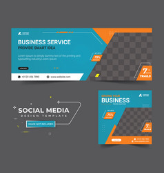 Business promotion facebook cover post template vector