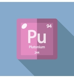 Chemical element Plutonium Flat vector image