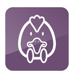 Chicken icon Animal head vector