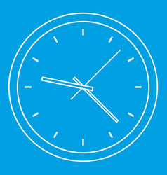 clock icon outline style vector image