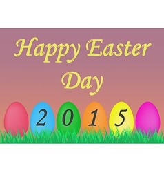 Colorful greeting card for easter day vector