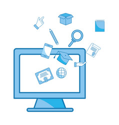 computer and education items vector image