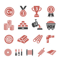 Copper icon vector