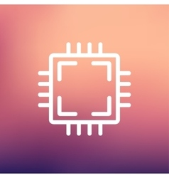 CPU thin line icon vector image