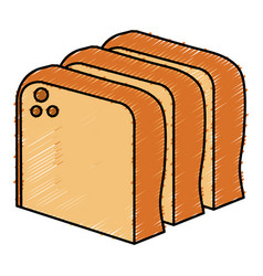 Delicious toast bread icon vector